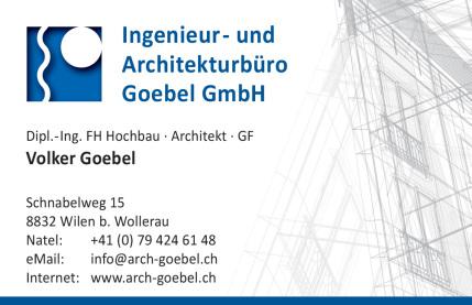 Architekturbüro Goebel Wollerau Visitienkarte Volker Goebel Architekt