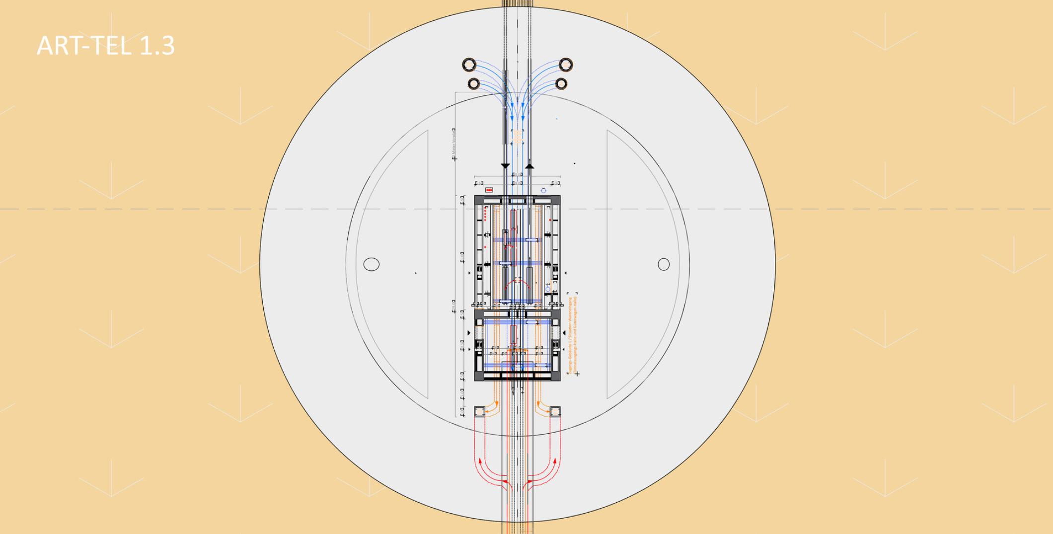 Grundriss Zugangsgebäude und Lüftungsanlage Bundesamt für kerntechnische Entsorgung Berlin