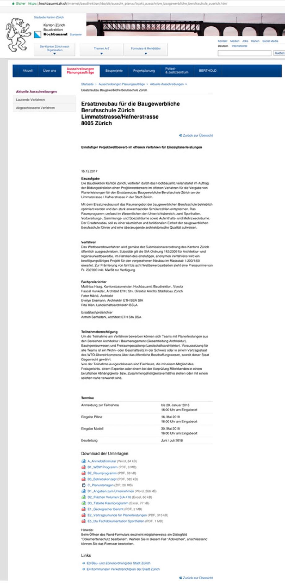 01_Publikation_Wettbewerb_BBZ_HBA_ZH_Neubau_Berufsschule_Limmatstrasse