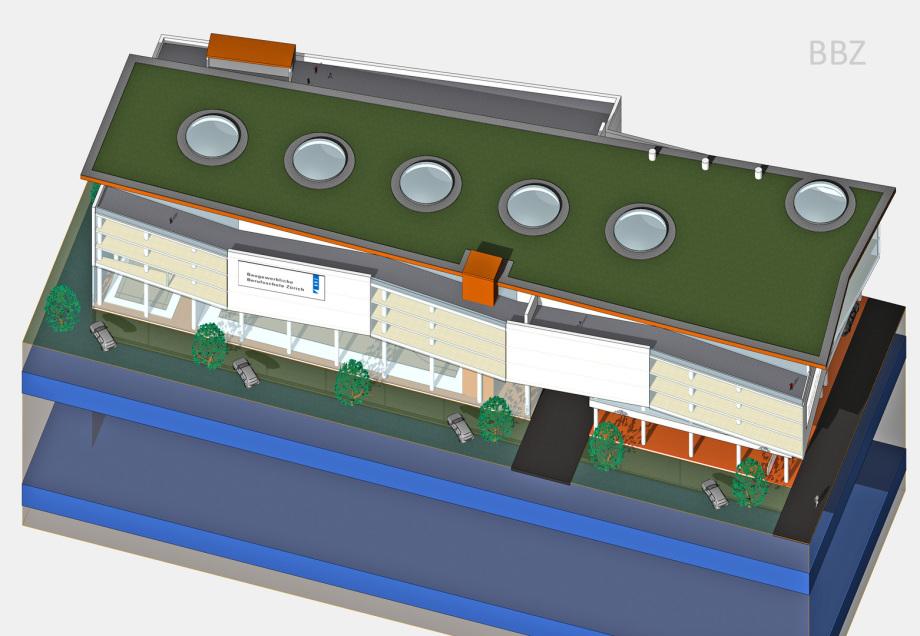 Perspektive Vor-Entwurf BBZ innerhalb Baurecht