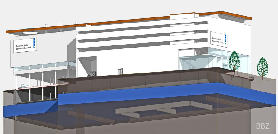 Perspektive Pflicht Entwurf BBZ Architektur Wettbewerb