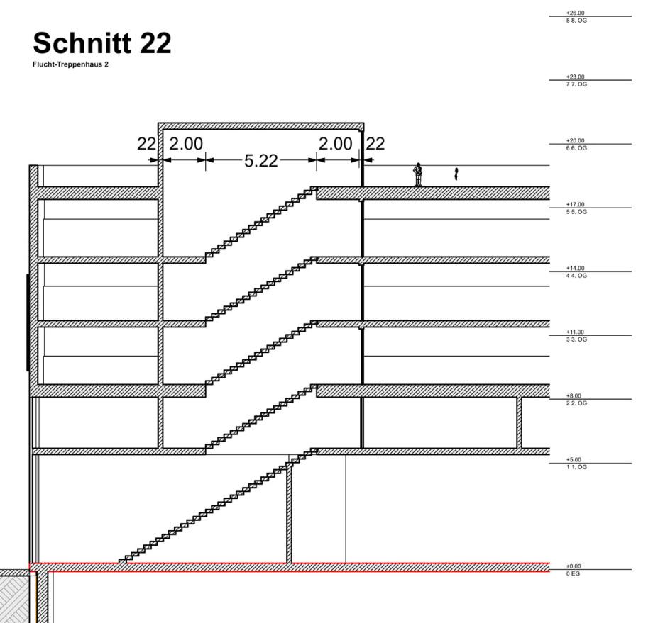 Grundriss Normalgeschoss mit Grundriss Dachgeschoss - alles unfertig - Statur Vor-Entwurf