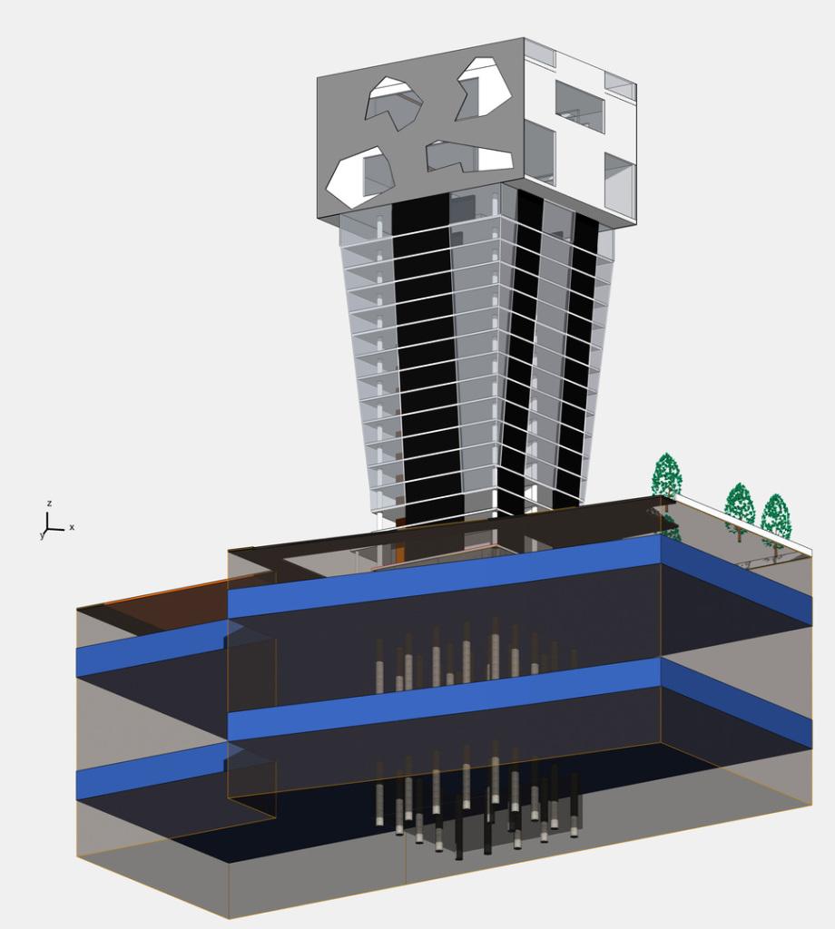 BBZ Turm Limmatstrasse - Wettbewerbs Beitrag Ing. Goebel