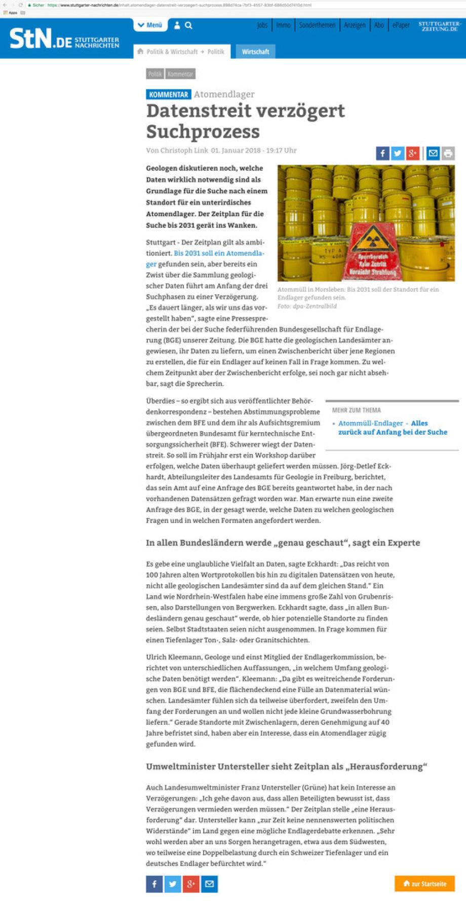 Datenstreit_Geologie_Daten_BGE_GmbH_Endlager_Stuttgarter_Nachrichten