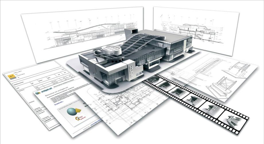 ArchiCAD BIM - seit 30 Jahren - Perfekt - man zeichnet im Grundriss, in Geschossen und ArchiCAD bereitet die Schnitte und Ansichten vor die dann noch vom HBZ ergänzt werden