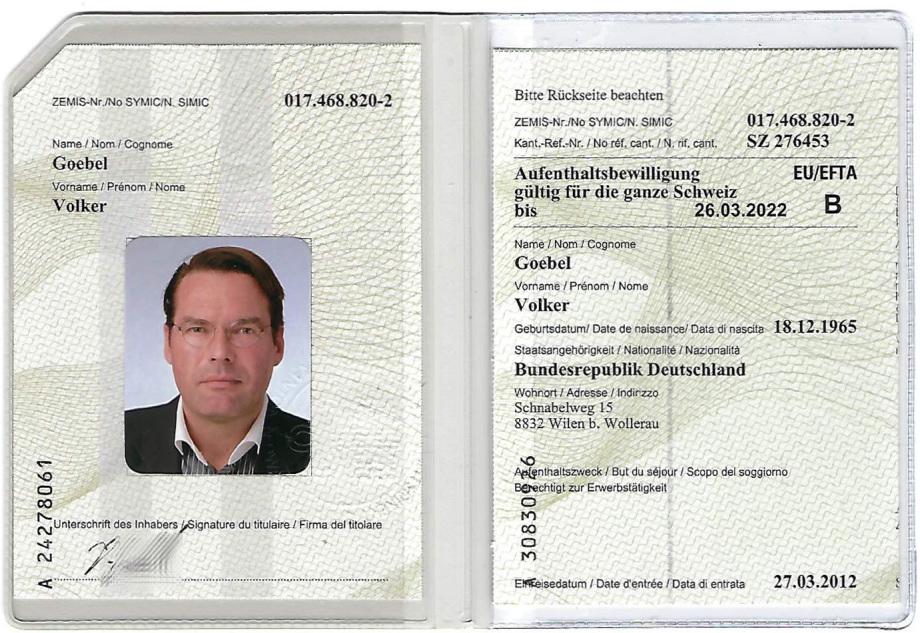 Architekt Volker Goebel Dipl.-Ing. ist B-Aufenthalter