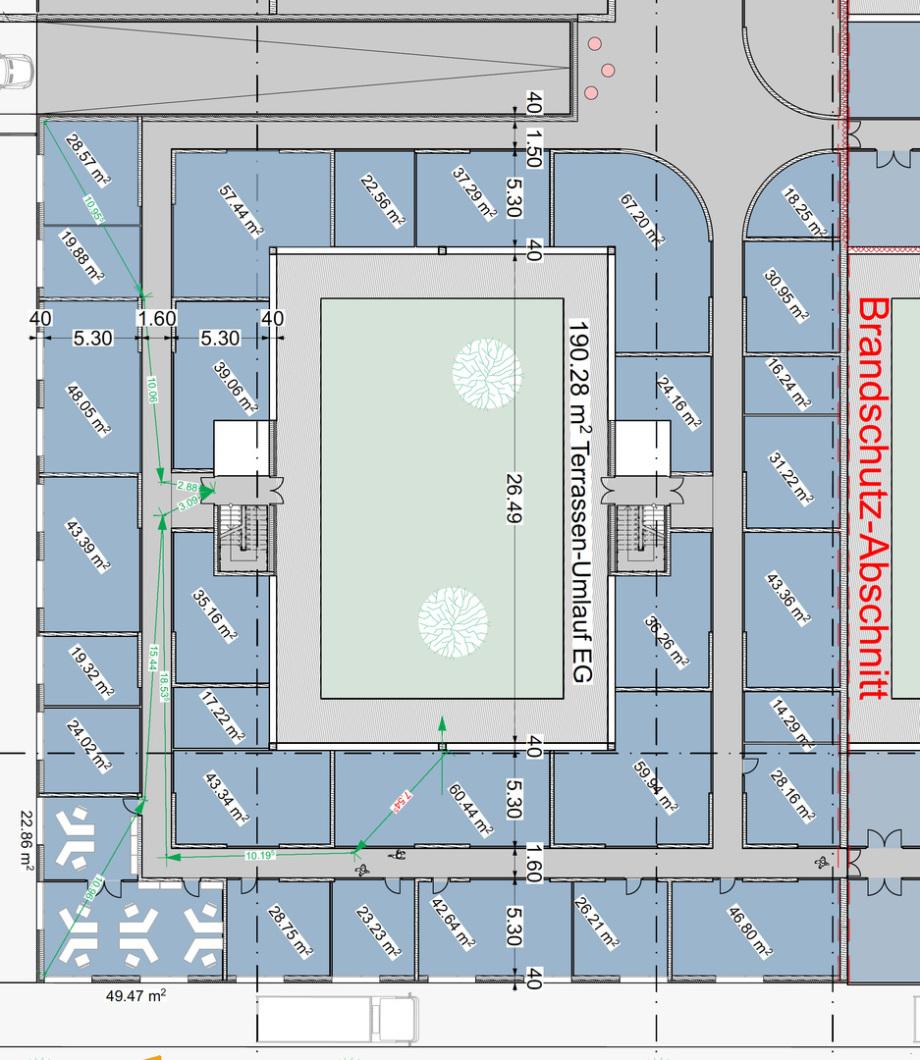 Mögliche gut belichtete Büro-Räume im EG des Pharma Business Centers