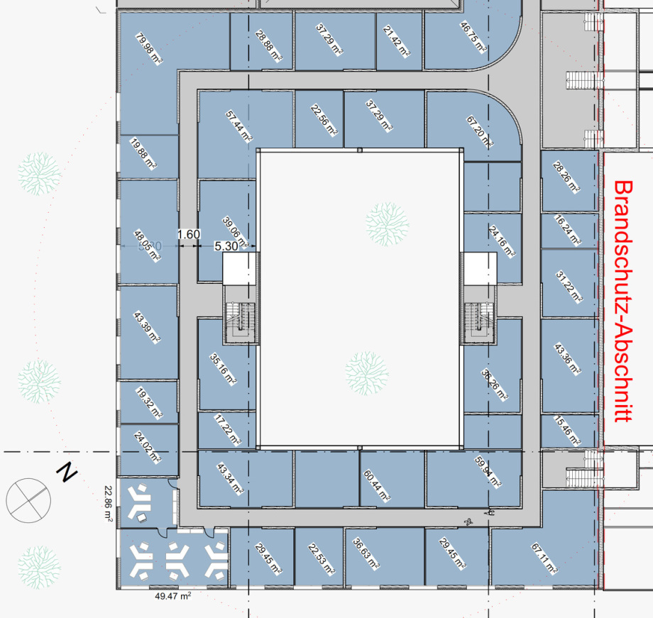 mögliche Büro-Räume im 1 OG des Pharma Business Center