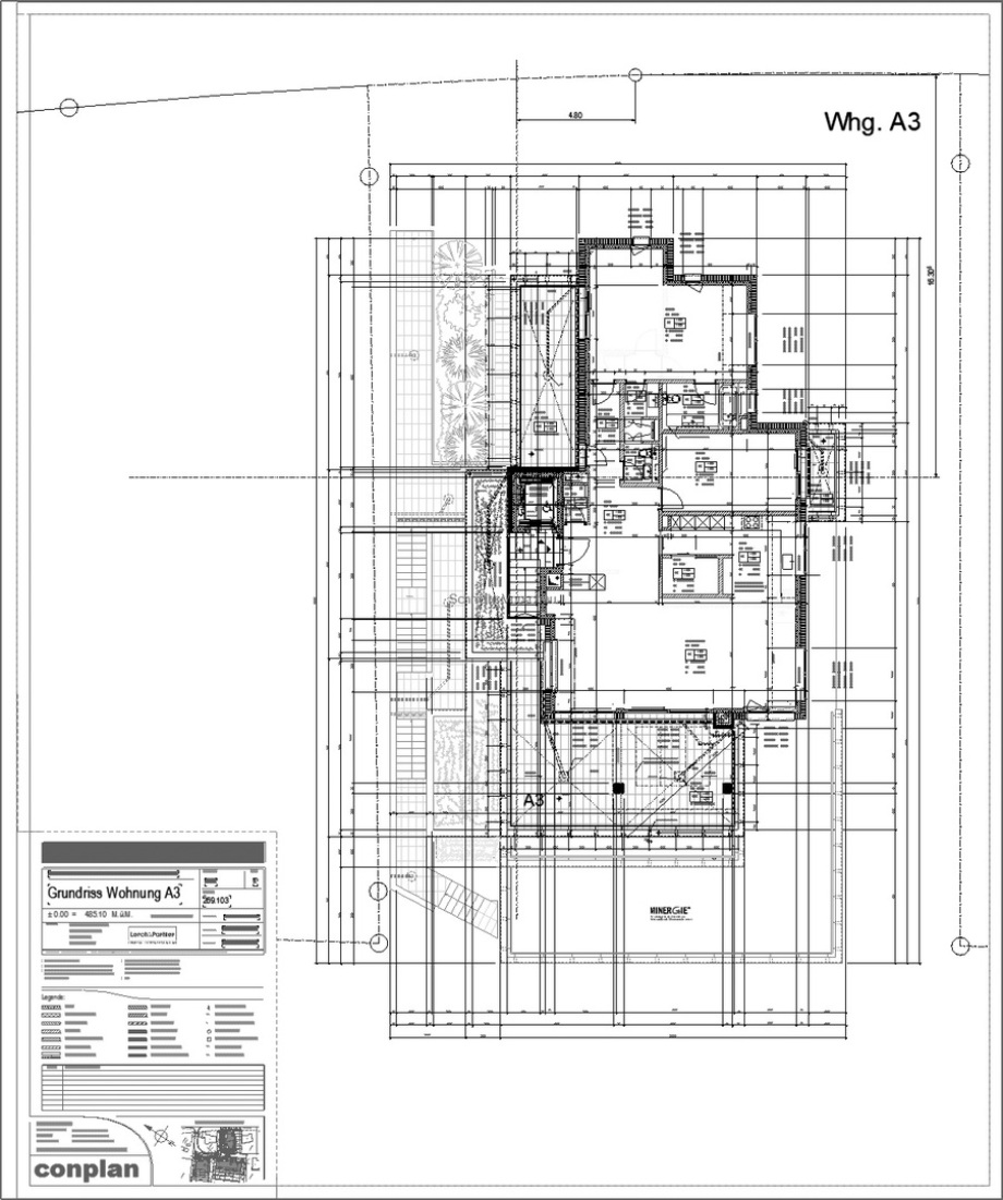 Ausführungsplanung 1:50 Architekt Volker Goebel Dipl.-Ing.