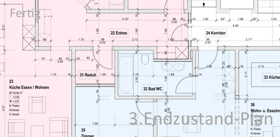 Umbauplanung Ausführungsplanung 1:50 Architekt Volker Goebel Dipl.-Ing.