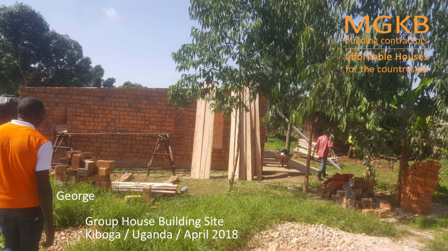 Roof works on Group House Starlight Kiboga by MGKB building contractors began in April 2018