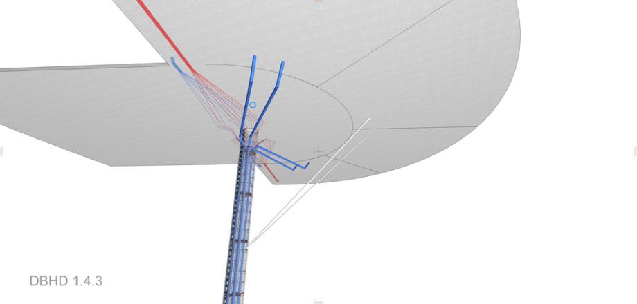 Leitungen unterhalb des Bohrplatzes - Luftkühlung - Wasserkühlung - Beton-Rohre