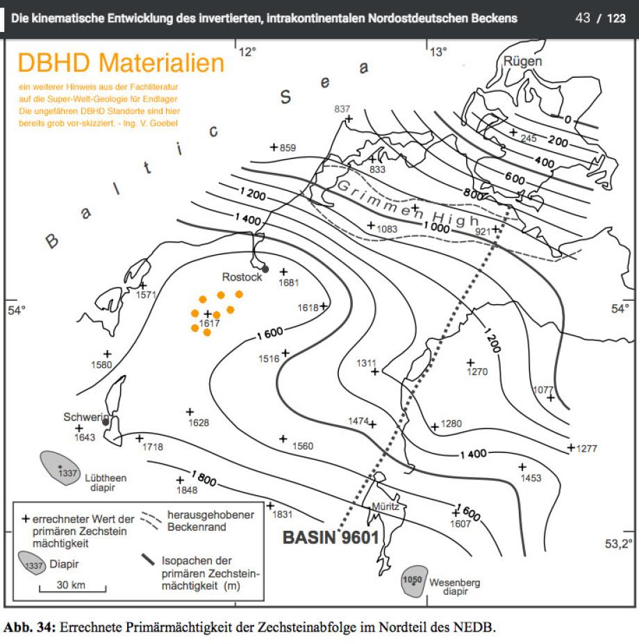 DBHD Endlager Geologie Steinsalz SCHICHT 1.600 Meter bei Glasin zwischen Schwerin und Rostock