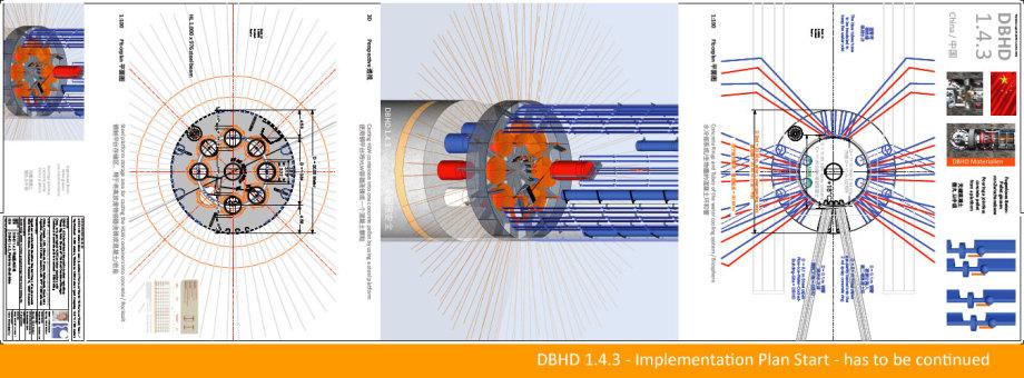 Grundriss untere Zwischenebene - Fugenloser Verguss von Castoren in Beton-Pellets - Grundriss Wasser- und Luftkühlsystem Zuleitungen