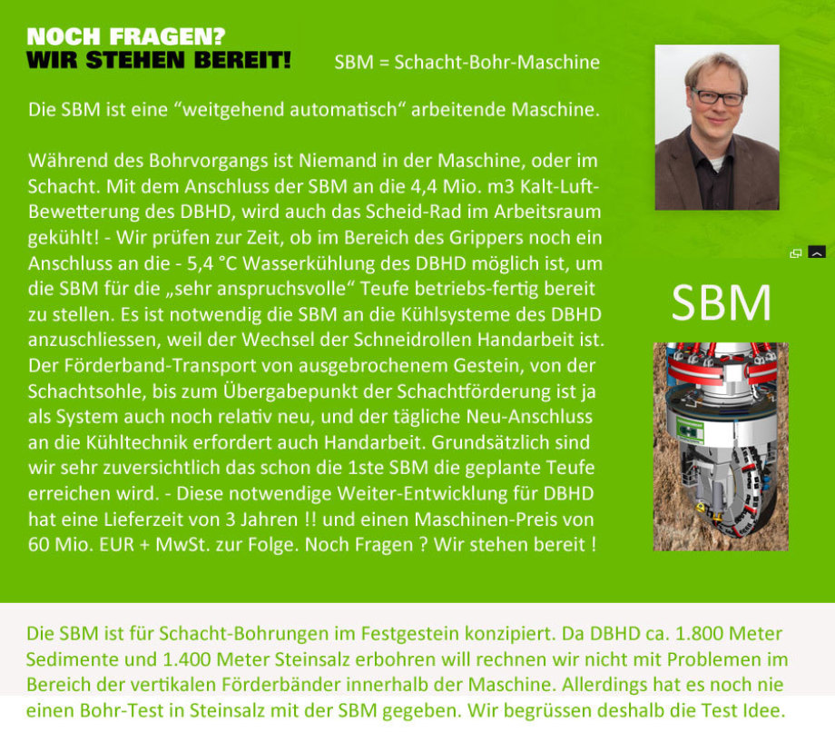 >>> SBM is going to be connected to DBHD cooling systems - new price now 60 Mio. EUR + VAT - new delivery time 3 years after 50 % deposit -#SBM #DBHD #Herrenknecht #GDF #DEAL #DeepBigHoleDisposal #DE