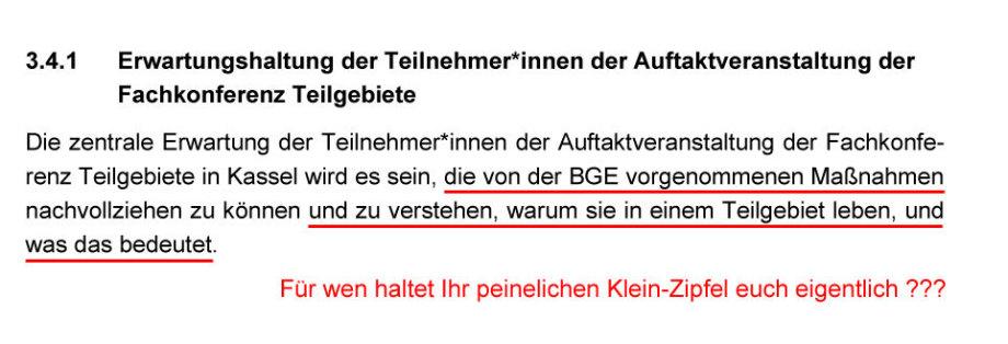 Sprachliche_Unangemessenheit_der_macht-besoffenen_BGE_Texter - Dehmer vergiftet die Endlager-Standort-Suche