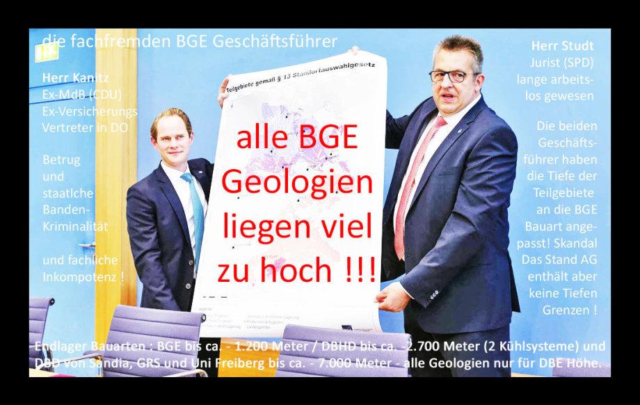 >>> Alle BGE Geologien liegen viel zu hoch - NACH-ARBEITEN
