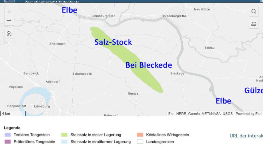 Teilgebiet Salz-Stock bei Bleckede der BGE