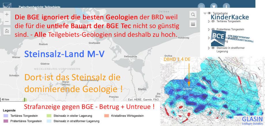 >>> Wir haben ein ganzes Bundesland das im tieferen Untergrund aus einer Stein-Salz Platte unterschiedlicher Ausprägung besteht - Aber die BGE fördert nur die BGE Tec - #BGE #Blind #Vorteilsnahme #Strafanzeige #Betrug #Untreue