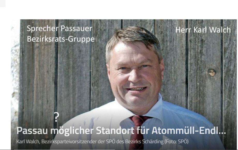 Herr Kurt Walch SPÖ Passau Bayern BRD - Grüss Gott Herr Walch