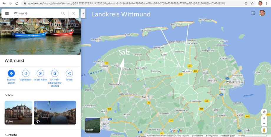 bei Ostdorf - das liegt auf Höhe Norderney Ost aber tiefer - es gibt viele Ostdorfs