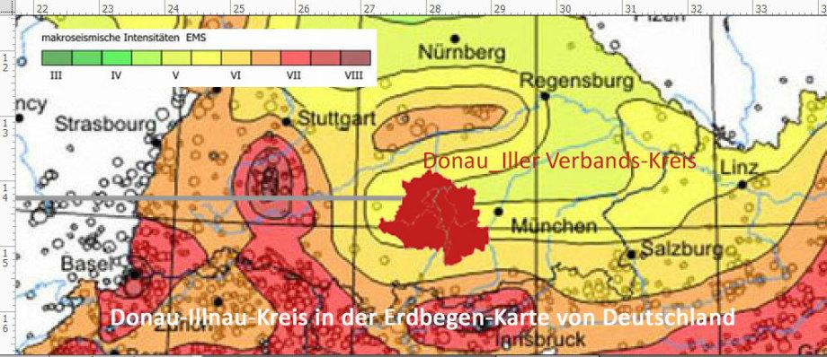 Donau-Iller-Verbandskreis in der Erdbeben-Karte