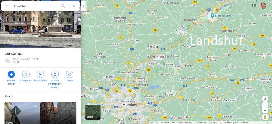 Stadt Landshut in Niederbayern - Schön