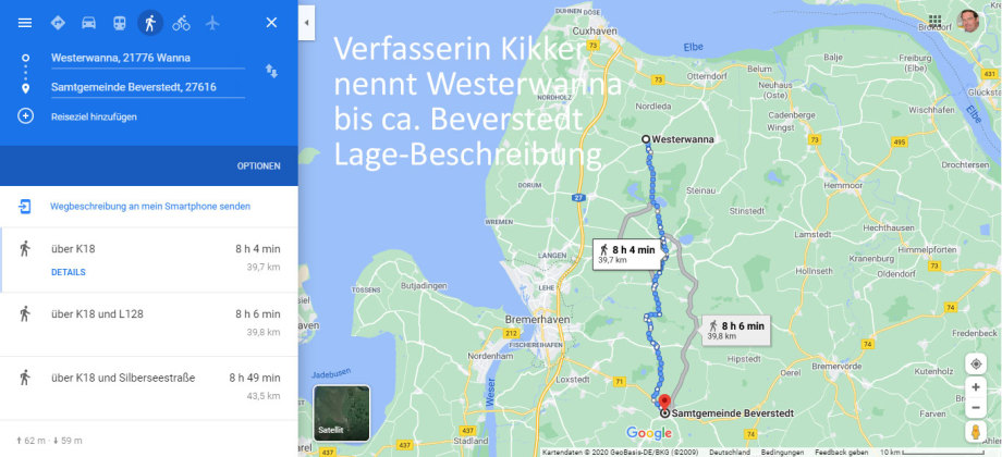 Westerwanna bis Beverungen - das ist eine grosse Distanz zu Fuss