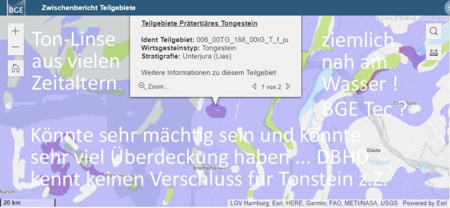 Ton-Linse unbekannter Abmessung nördlich von Bremerhaven
