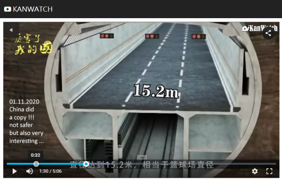 Big Hole Traffic Tunnel Design from China with a small Diameter of 15,2 Meters