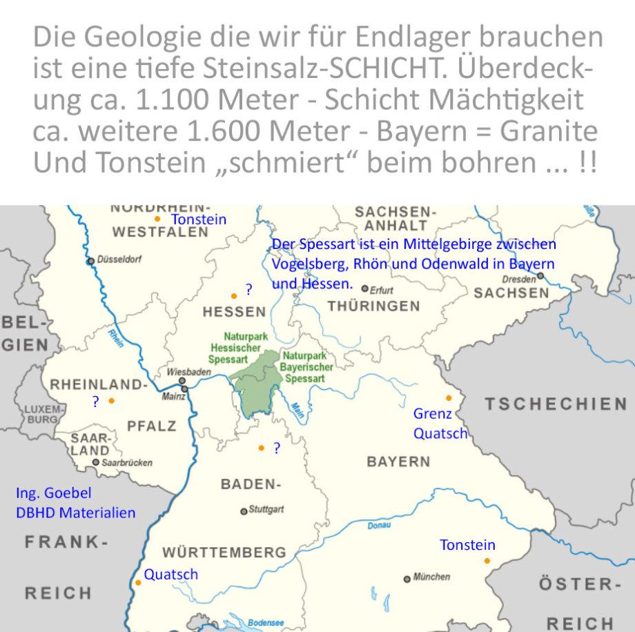 unfrsierte Gedanken izu Endlager in Süddeutschland