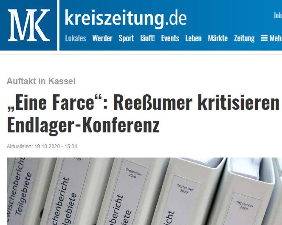 Kritik an der Endlager-Fachkonferenz aus Reeßum