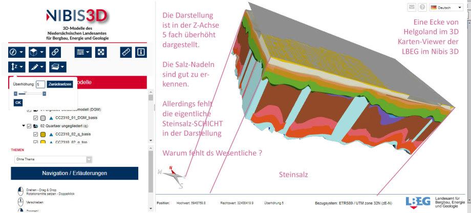 3D Modell Ausschnitt von Helgoland - Salz-Spiztzen - aber die Salz-Basis-Platte fehlt - 1-2 km dickes Salz unterschlagen !