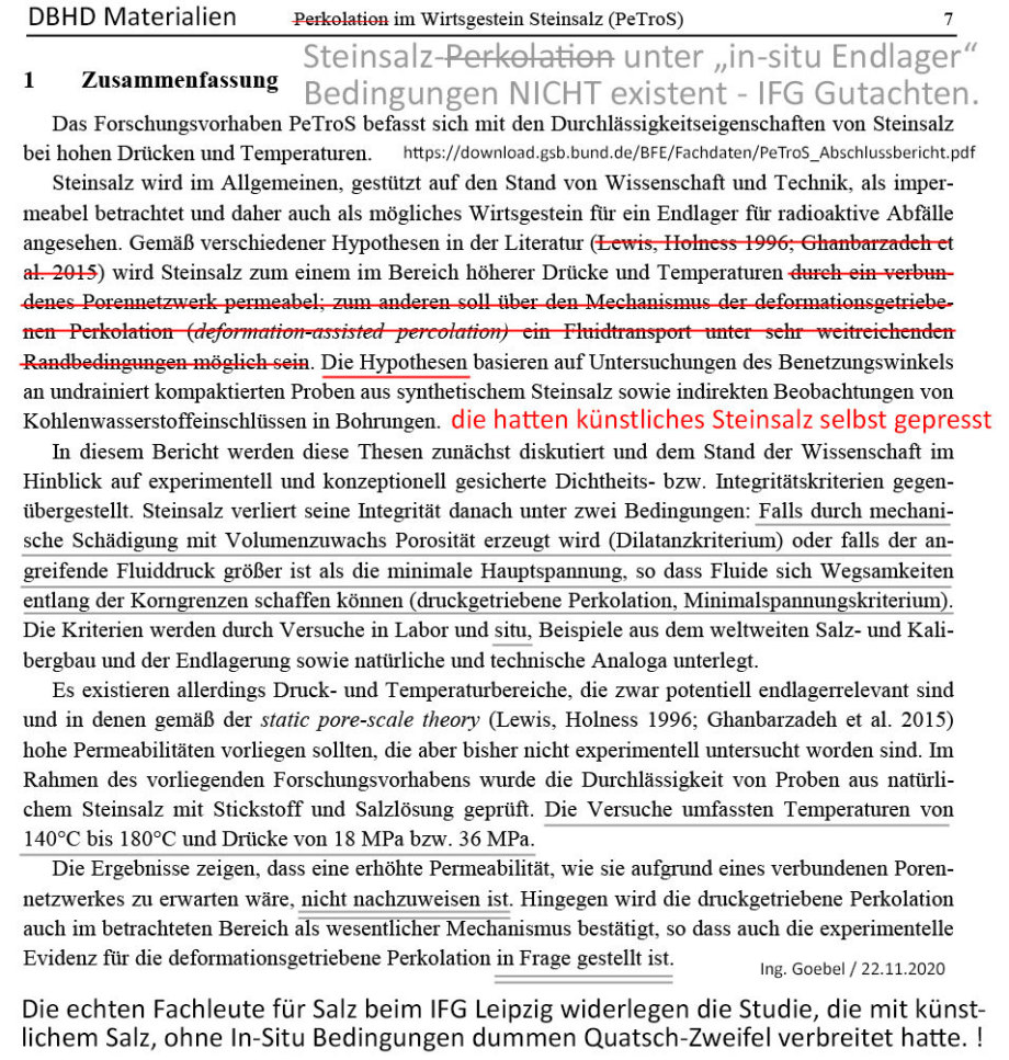 Ghanbarzadeh Hypothesen 2015 von IFG 2020 komplett widerlegt !!!