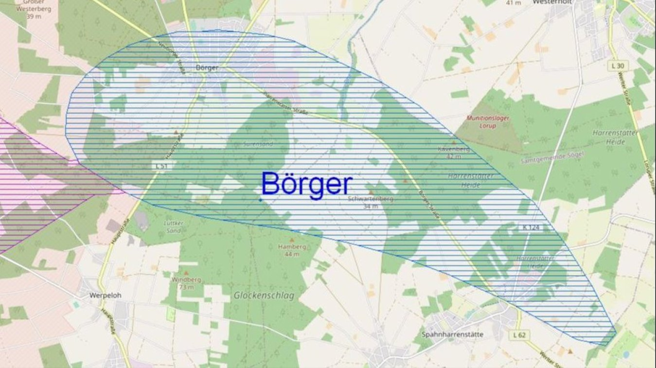 Aufsicht Steinsalz bei Börger - Emsland - Thema Standort-Auswahl-Endlager
