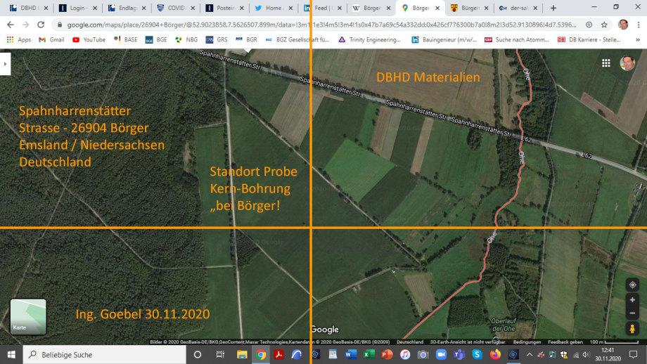>>> Das Feld, der Acker wo die Probe-Bohrungen für Endlager stattfinden sollen - Bohrpunkt liegt gut über dem Steinsalz-Diapir - Das wird ein Endlager mit einer echten physikalischen Adresse : DBHD Börger, Spahnharrenstätter Strasse in 26904 Börger - #BRA