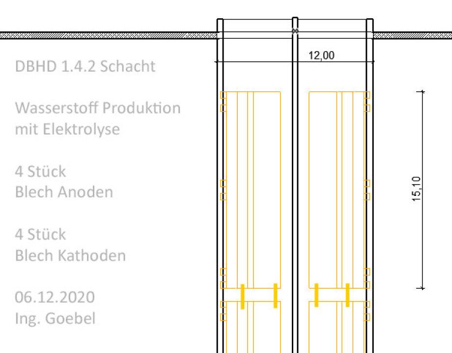 >>> Cut - Elevation - Hydrogen Production Shaft - DBHD Patent - massive electrolytic surface possible - Hydrogen mass production unit - stufenlos regelbar - Nachtstrom aus Wind speichern - LKW damit fahren lassen ... #Wasserstoff #Strategie #Deutschland #