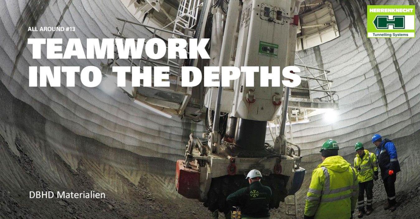 >>> Teamwork in die Tiefe - Wundervoll - welch ein Raum - Schöne Geometrie - Schöne Wandung - SBR - 12 Meters Diameter - Herrenknecht works on a shaft boring machine that goes deep - #Herrenknecht #Shaft #Boring #SBR #13