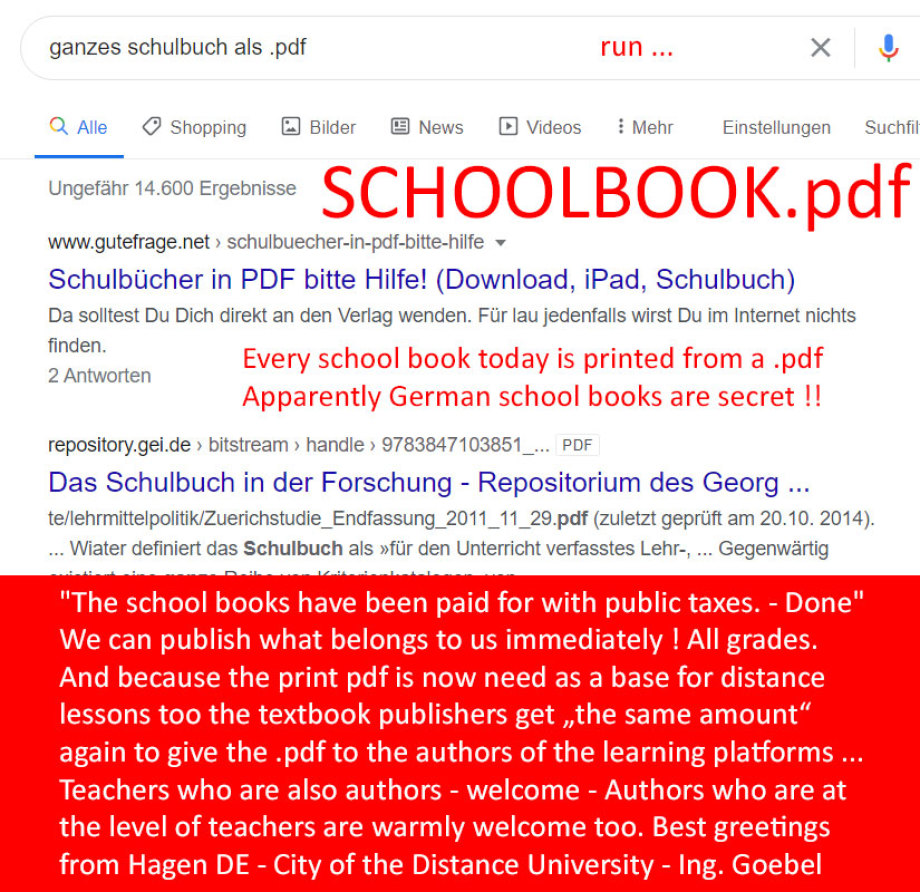>>> SCHOOLBOOK.pdf >>> Every school book today is printed from a .pdf - Apparently German school books are secret !! - #publish #schoolbook #pdf #NOW