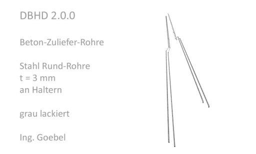 Beton-Zuliefer-Rohre - notwendige Wandstärke ca. 5 mm