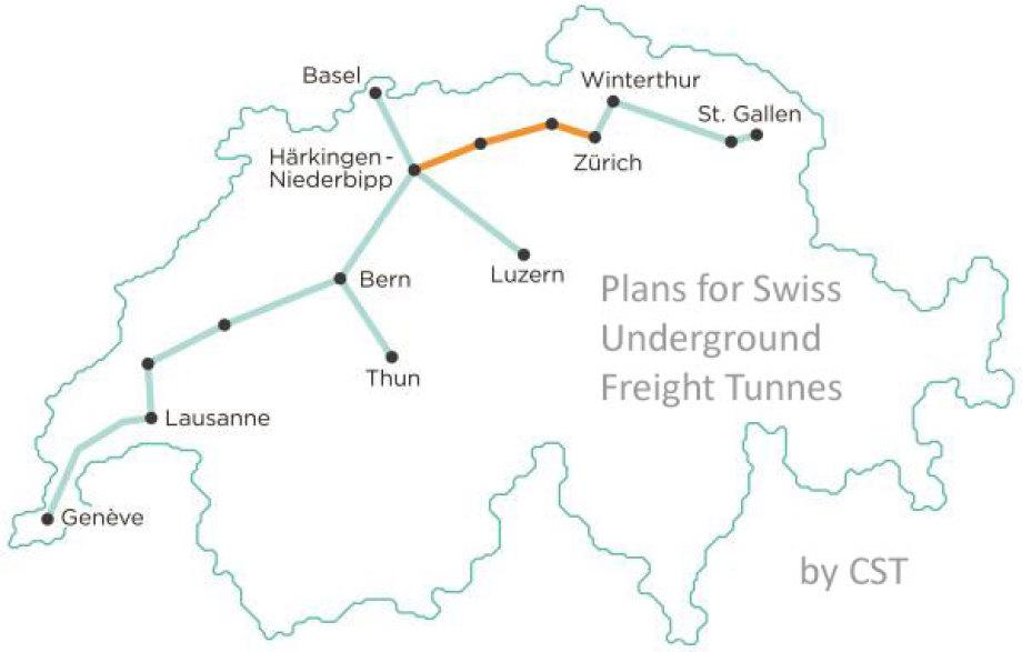Original Skizze der Tunnel-Trasse von der CST Website