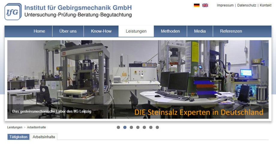IFG Leipzig - DIE Steinsalz-Experten in Deutschland