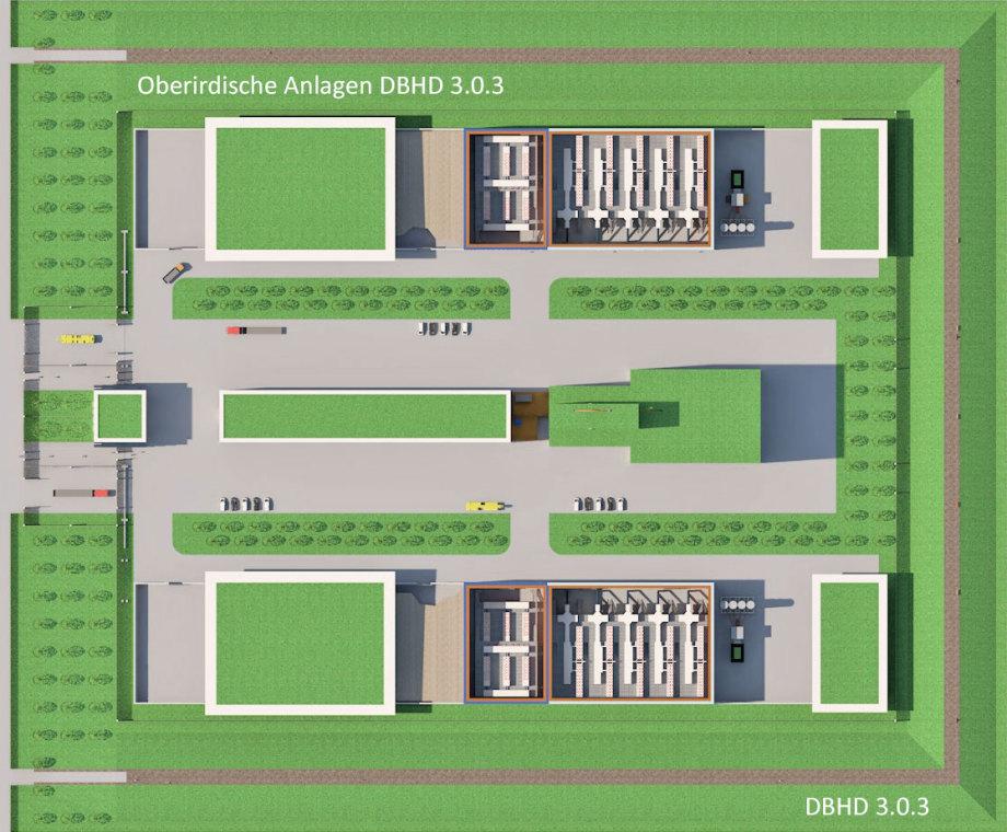 Oberirdische Anlagen für DBHD Endlager
