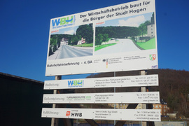 Bau-Fortschritt Bahnhofs-Hinterfahrung Hagen Jan. 2019