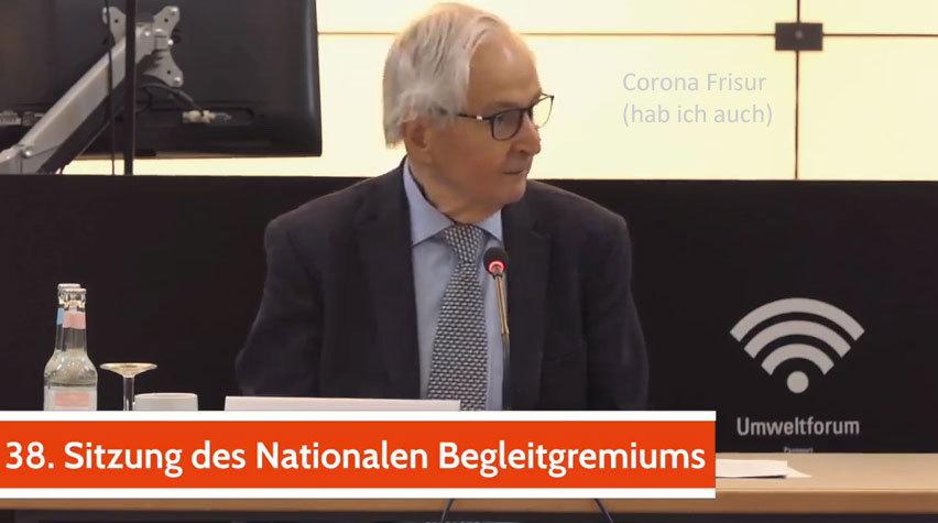 Klaus Töpfer in der 38. NBG Sitzung - Danke