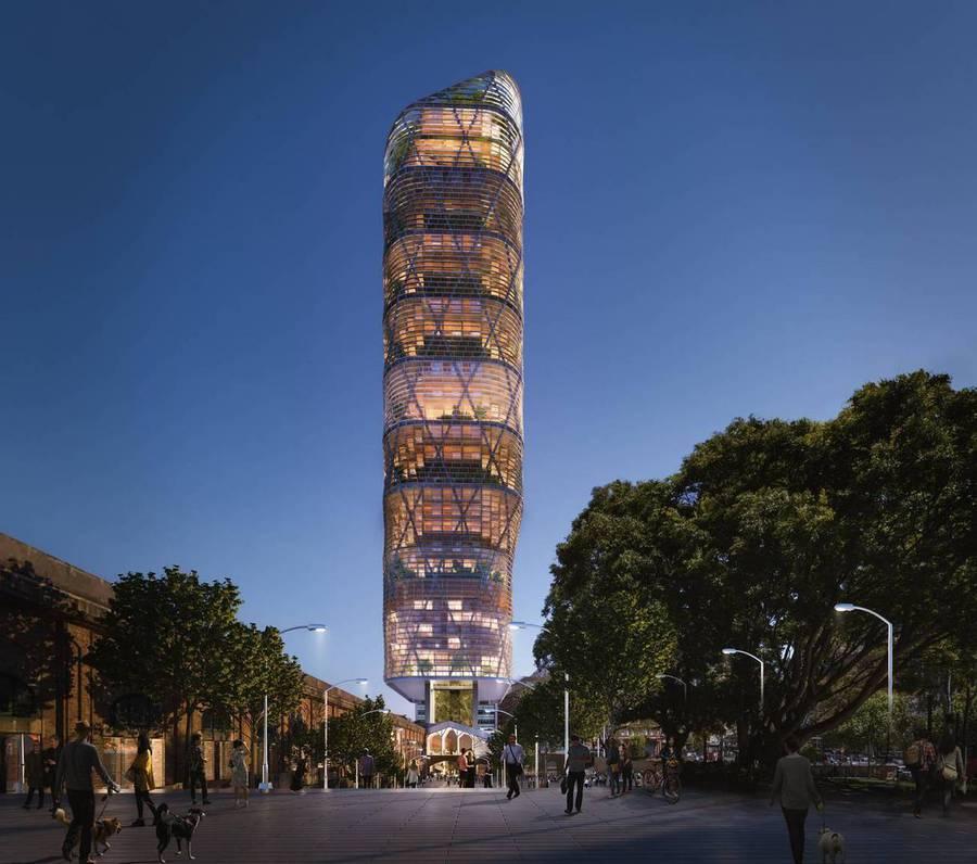 Australien versucht einen 180 Meter hohen Holzbau