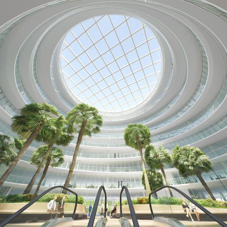 Atrium Deutschland Haus Hamburg - Vorschaubild der Architektur