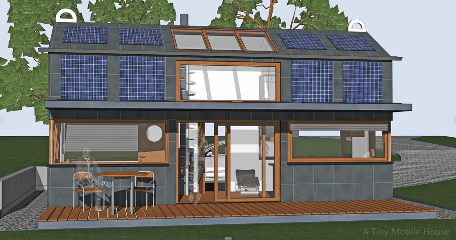 A Tiny Mobile House Building plan for you by Dipl.-Ing. Volker Goebel Nuclear Repository Planner