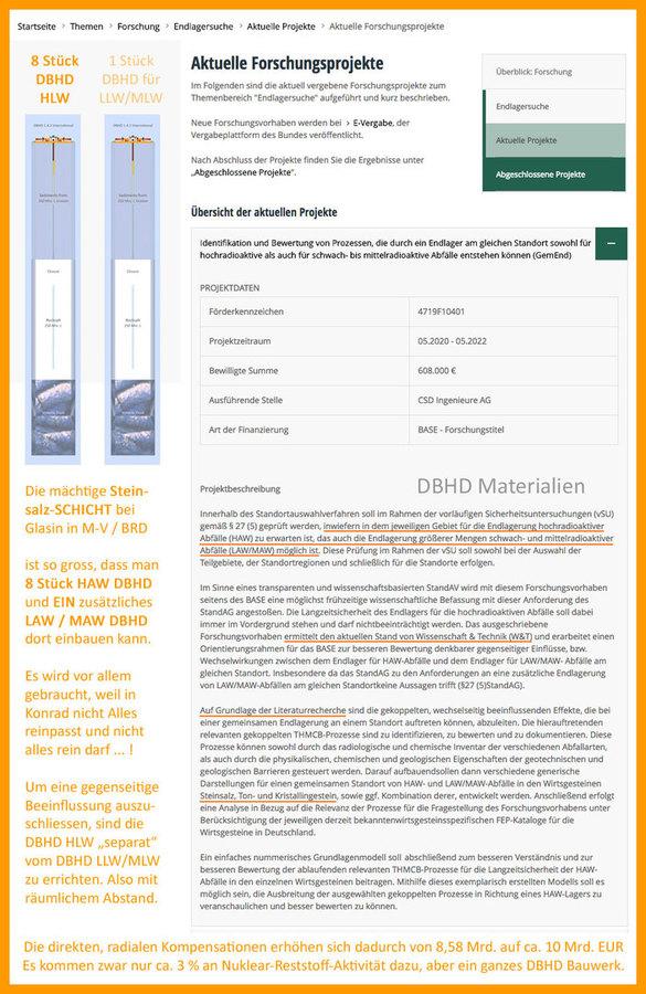 """>>> Es war seit Jahren schon in der Diskussion - das BMU in Bonn will ein """"separates"""" DBHD für LLW/MLW, weil nicht alles in das EL Konrad passt und auch nicht darf. #DBHD #8plus1 #Separat #Kompensationen #BMU #Glasin   DAS MUSS GEZEICHNET WERDEN"""