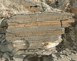 Tonstein - bröckelig - feucht - trocknet bei Wärme aus und bildet Risse - niemals gas-dicht verschliessbar